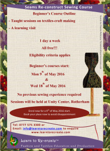 Beginner's Seams Re-construct course flyer