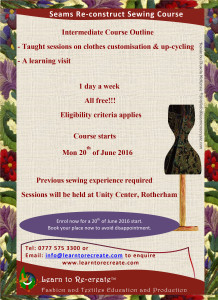 Intermediate Seams Re-construct course flyer